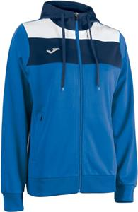 Joma Womens Crew Hooded Full-Zip Sweatshirt Jacket