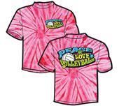 Tandem Sport Groovy Tie Dye Volleyball T-Shirt