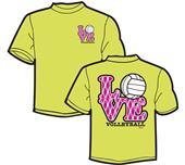 Tandem Sport Love Plaid Volleyball T-Shirt