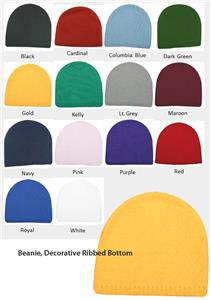 Outdoor Hat Cotton Beanie Ribbed Bottom 14 Colors