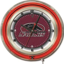 "Holland Southern Illinois Univ 19"" Neon Logo Clock"