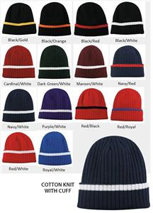 Outdoor Hat Cotton Knit With Cuff 14 Colors