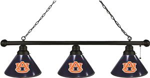 Holland Auburn University 3 Shade Billiard Light