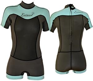 To Exceed Women's 3/2mm Enticing Shorty Wet Suit