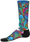 Red Lion Groovy Sublimated Print Crew Socks