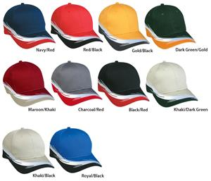 White Thread Flare Embroidery Cap 10 Colors