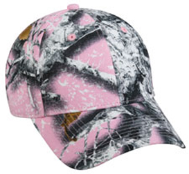 Pink Adj. Washed Peached Cotton Twill Womens Cap