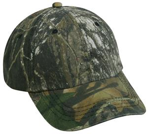 OC Sports Camo Adjustable Washed Brushed Cap