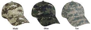 Digital Camo Adjustable Wash Cotton Caps 3 Colors