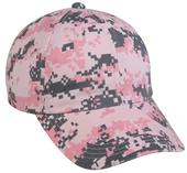 OC Sports Pink Digital Camo Wash Cotton Womens Cap