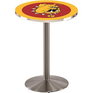 Ferris State Stainless Steel Round Base Pub Table