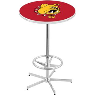 Ferris State Chrome Retro Inspired Base Pub Table