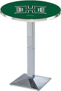 Univ. of Hawaii Chrome Square Base Pub Table