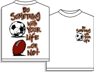 CLOSEOUT-Do Something soccer tshirt YS & YM