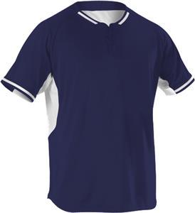 Alleson 2 Button Baseball Jerseys 524PD