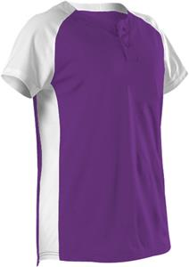 Alleson Women/Girls Two Button Fastpitch Jersey