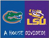 Fan Mats NCAA Florida/LSU House Divided Mat