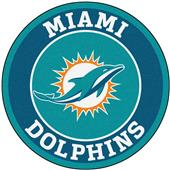 Fan Mats NFL Miami Dolphins Roundel Mat