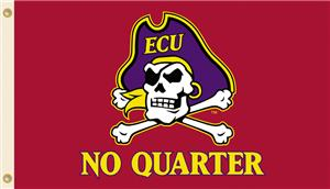 College E. Carolina Pirates No Quarter 3'x5' Flag