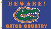 College Florida Beware Gator Country 3'x5' Flag