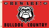 College Georgia Beware Bulldog Country 3'x5' Flag