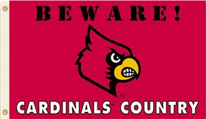 College Louisville Beware Cardinals Country Flag