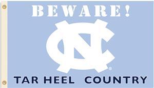 College N. Carolina Beware Tar Heel Country Flag
