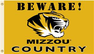 College Missouri Tigers Beware Mizzou Country Flag