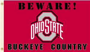 College Ohio State Beware Buckeyes Country Flag