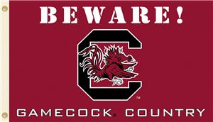 College S. Carolina Beware Gamecock Country Flag