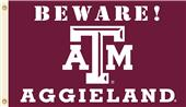 College Texas A&M Beware AggieLand Country Flag