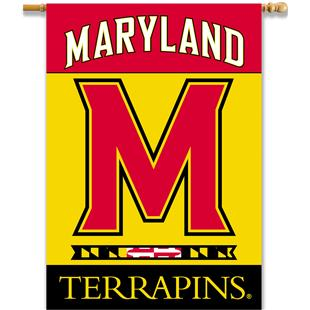 """College Maryland Terrapins 2-Sided 28""""x40"""" Banner"""
