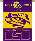 "College LSU Tigers 2-Sided 28""x40"" Banner"