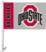 "College Ohio State 2-Sided 11""x18"" Car Flag"