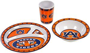 College Auburn Tigers Children's 3 Pc. Dish Set