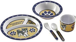 College Washington Huskies Children's 5 Pc. Dish S