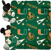Northwest NCAA Miami Mickey Hugger w/Throw 40x50