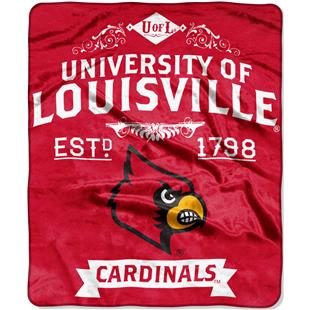 Northwest NCAA Univ Louisville 50x60 Raschel Throw