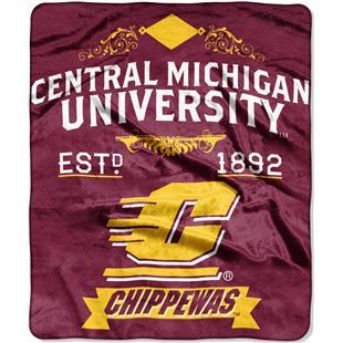 Northwest NCAA Central Michigan Raschel Throw
