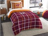 Northwest NCAA Virginia Tech Twin Comforter & Sham