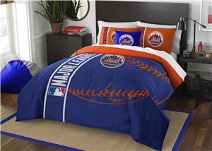 Northwest MLB NY Mets Full Comforter & 2 Shams