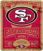 Northwest NFL 49ers 50x60 Marque Fleece