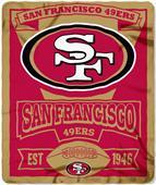 Northwest NFL 49ers 50x60 Marque Fleece