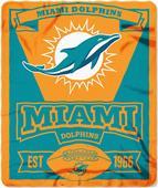 Northwest NFL Dolphins 50x60 Marque Fleece