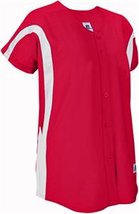 Russell Faux Placket Color Block Softball Jersey