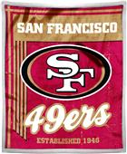 Northwest NFL 49ers 50x60 Mink Sherpa Throw