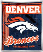 Northwest NFL Broncos 50x60 Mink Sherpa Throw