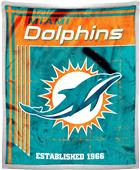 Northwest NFL Dolphins 50x60 Mink Sherpa Throw