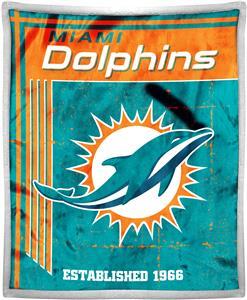 Northwest NFL Dolphins 50x60 Mink Sherpa Throw