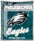 Northwest NFL Eagles 50x60 Mink Sherpa Throw